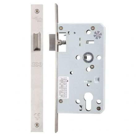 Vier ZDL0060LSS Din Standard Mortice Latch 60mm Satin Stainless Steel